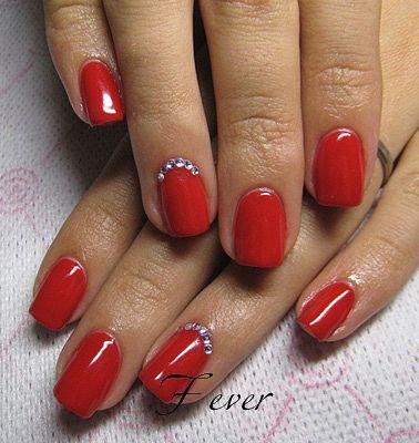 Шеллак красный цвет дизайн